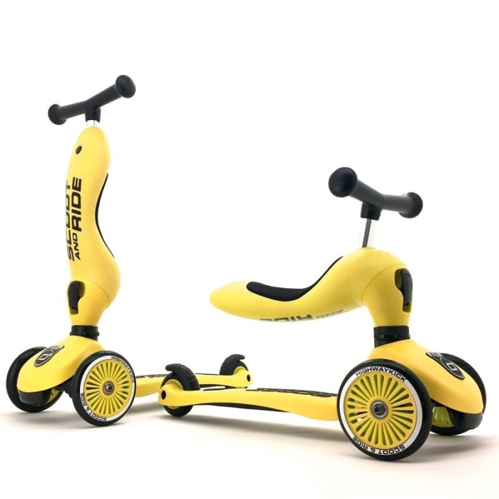 Koloběžka Scoot and Ride Highwaykick 2v1 LEMON žltá