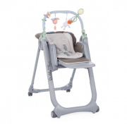 Chicco Jedálenská stolička Polly Magic Relax - Dove Grey 2018