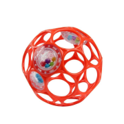 Hračka OBALL RATTLE 10 cm, 0m+ orange