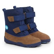 Detská barefoot obuv Affenzahn Minimal Highboot Leather - Bear/Dark Blue/Brown