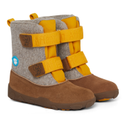 Detská barefoot obuv Affenzahn Minimal Highboot Leather - Tiger/Yellow Brown